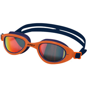 Zone3 Attack Goggles, polarized lens-navy/hi-vis orange